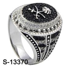 2016 novo modelo micro ajuste 925 prata jóias anel para homens (s-13370)