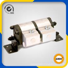 Роторный делитель потока с редукторным двигателем и предохранительным клапаном