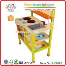New Style Kids Toy Kitchen Play Set,High Quality Wooden Kids Kitchen Set