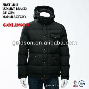 2016 Hombres negro chaqueta con capucha corta para negocios