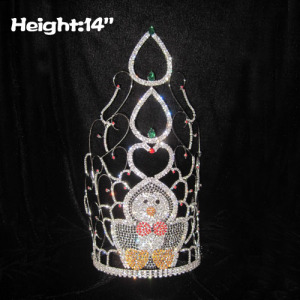 14in Heigth Crystal Penguin Pageant Children Crowns