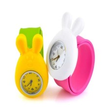 Health silicone material kids slap watches