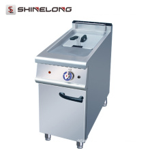 Manufacturer Supplier 900 Series Electric / Gas Single Basket Mini Fryer con gabinete