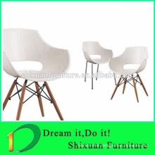hot sale wood legs plastic outdoor leisure chair
