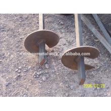 Poteaux à vis hélicoïdale, ancres à vis à la terre