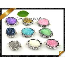 Crystal Druzy Pendant Connector Beads Wholesale (EF0106)