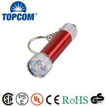 TP-305UV Mini porte-clés UV Aluminium 5 LED Mini UV Light Keychain / porte-clés UV / Mini UV Lampe de poche
