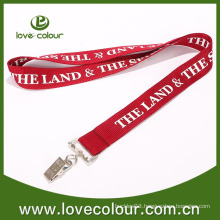 Screen Print Polyester Lanyard With Metal Clamp For Events