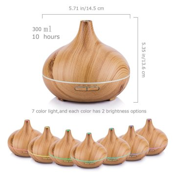 Unique Wooden grain Fea Aroma Diffuser 400ml