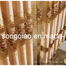 Polyester Plain Embroidered Curtains for Window (01)