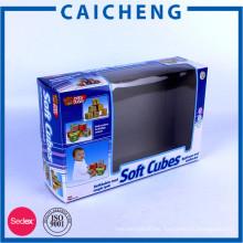 Cajas de juguete personalizadas del paquete de papel del printng con la ventana plástica