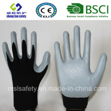13G Polyester Shell with Nitrile Coated Work Gloves (SL-N115)