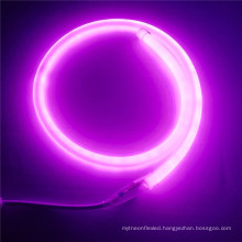 25mm pink led round light 360 degree led neon flex