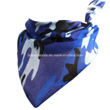 Babete de algodão para bebê com estampa de camuflagem personalizada toalha de saliva em forma de triângulo Bandana