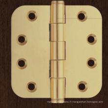 Charnière de porte de matériel de laiton de 3/4/5 pouces pour la porte en bois