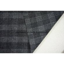 Tecido de lã em xadrez com preto e branco