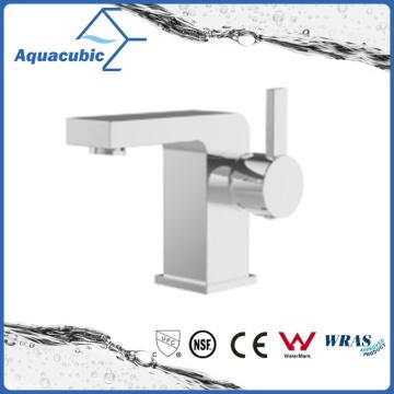 Square Base Solid Brass Body Single Handle Bathroom Faucet (AF7012-6)