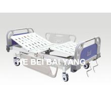 (A-58) - Lit mobile à double fonction pour hôpitaux avec tête de lit ABS