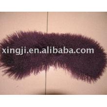 Collar de piel de cordero de Mongolia