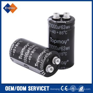 Condensateur électrolytique en aluminium terminal de vis de 10000UF 63V