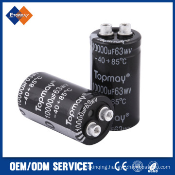 10000UF 63V Screw Terminal Aluminum Electrolytic Capacitor