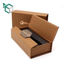 Boîte de montre de papier d'emballage faite sur commande de luxe faite sur commande d'usine avec l'insertion de mousse