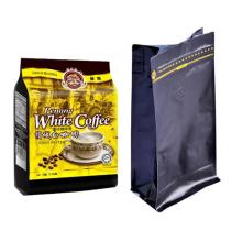 Bolsa de embalaje de café de plástico plano inferior