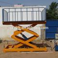 Hydraulic stationary miniature scissor lift