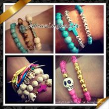 Joyería de moda nuevos artículos brazaletes perlas conjunto para las mujeres (CB069)