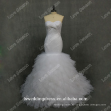 RP0101 Factory supplier 100% real tull fabric for wedding dress ghanaian dress designs ball gown brazilian wedding dress 2015