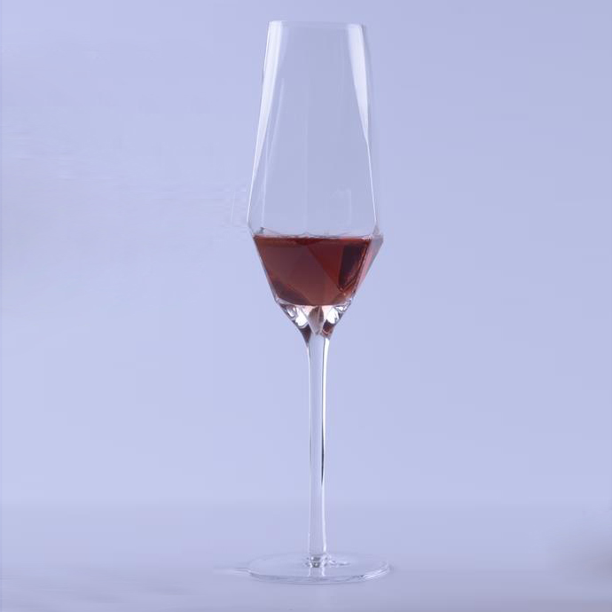 hot Sale Crystal Clear Geo Wine Glass