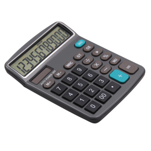 Dual Power Big Display 12 Digit Desktop Calculator