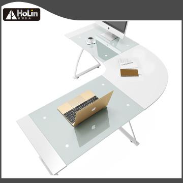 L Shape Corner Компьютерный стол белый