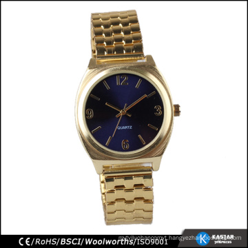 Gold bracelet watch stainless steel band
