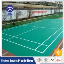 Plancher de cour de badminton synthétique portable de Chine