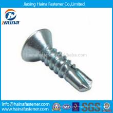 DIN7504 zinco banhado philips cabeça escareada auto-perfuração parafusos