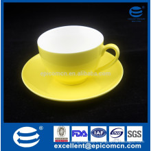 250cc Yellow Color Glazed New Bone China Cup And Saucer tea Set turkish coffee set