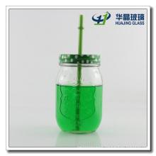 High Quality 15oz Honey Glass Mason Jar