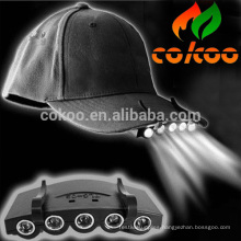 baseball led cap with light / 5 led cap light / led cap