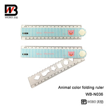 Cute Animal plegable regla de plástico para la escuela y la oficina de papelería