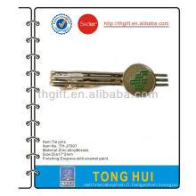 Poste / carte postale cravate métallique / clip / bar avec couleurs émail