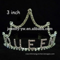 wholesale crystal hair accessories silver plated custom crown headband