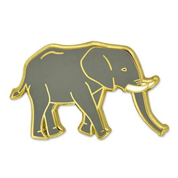 Wild African Elephant Enamel Lapel Pin