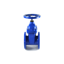 DIN3352 F4 DN200 PN16 GGG50 cast iron soft seal flanged soft sealing cold water gate valve
