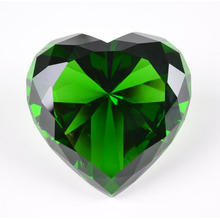 Crystal Gifts Exposition Souvenir Crystal Heart Diamond