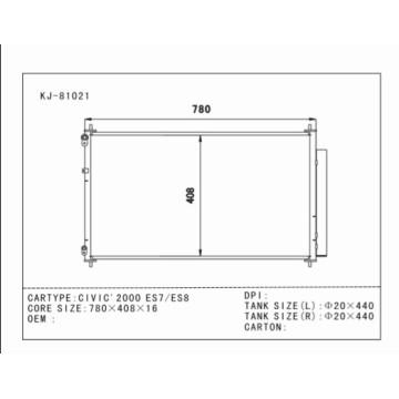 Condensateur automatique de meilleure qualité pour Civic'2000 Es7 / Es8 OEM: 80110-Shj-A01