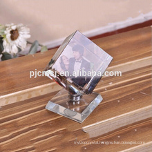 2016 Elegant rotating cube crystal photo frame new
