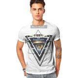 Wholesale 100% Polyester Custom Short Sleeve Tee Shirt Printed Men's T Shirts