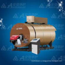 Горизонтальный котел для горячей воды с атмосферным давлением