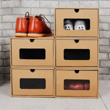 E-Flute Carton Kraft Corrugated Paper Shoe Shoe Storage